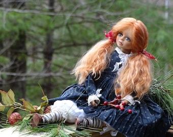 Artist Boudoir Doll Mirabele. Art Doll, handmade collectible. OOAK, Living Doll sculpted doll.