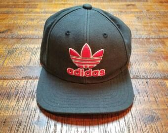 aeff65fc2af Vintage 90 s Adidas Snap back Baseball Hat