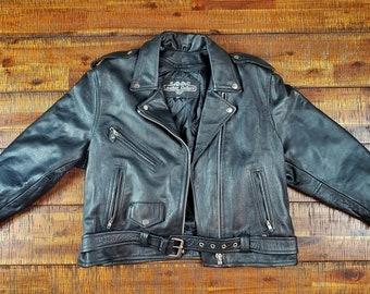 Mens Stylish Motorcycle Biker Genuine Lambskin Leather Jacket 277