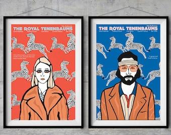 The Royal Tenenbaums - Character Posters - Original Illustration
