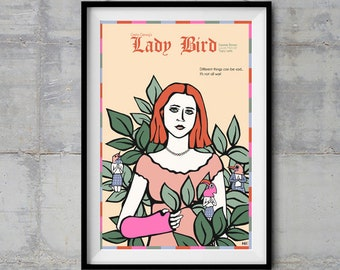 Lady Bird Alternative Movie Poster - Original Illustration