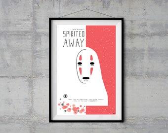 Spirited Away Alternative Movie Poster - Minimal Poster