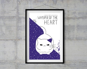 Whisper of the Heart Alternative Movie Poster - Minimal Poster