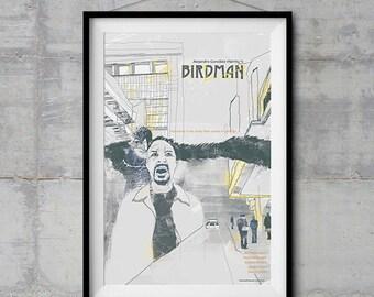 Birdman Alternative Movie Poster - Original Illustration