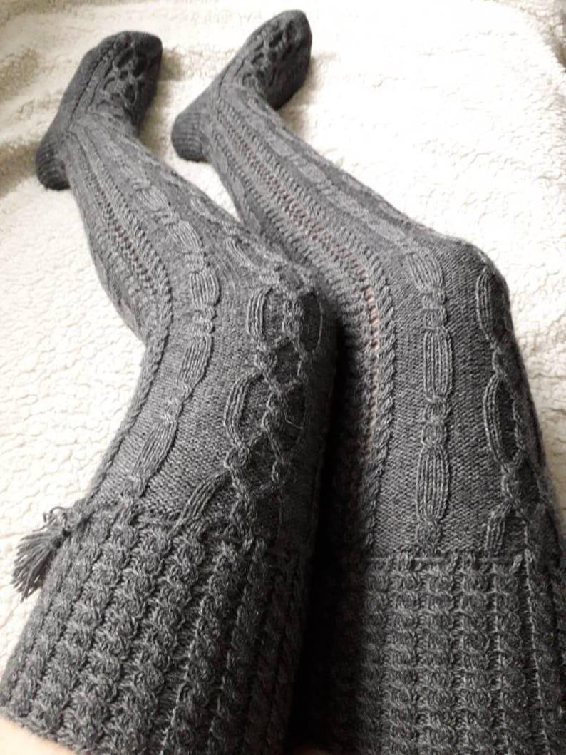 87a2de5cac2 Knit over knee socksKnit socksWool socksOverknee