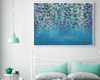 Large Wall Art Acrylic Painting Canvas Art Giclee Print Painting Print Floral Wall Art Abstract Painting Canvas Print Large Art Print