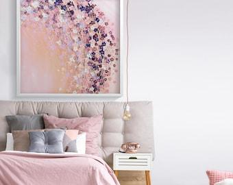 Pink Wall Art Prints Bedroom Wall Decor Pink Flowers Print Pink Decor  Bedroom Decor For Women Pink Flowers Art Wall Art Abstract Bedroom Art