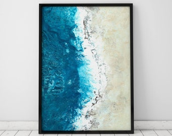 Abstract Painting Print Ocean Print Abstract Art Print Ocean Wall Art Abstract Print Ocean Painting Ocean Art Abstract Wall Art Beach Print