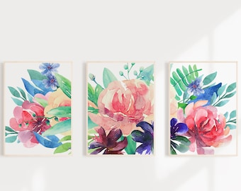 Wall Art Watercolor Flowers Painting Watercolor Painting Watercolor Print Watercolor Art Watercolor Flower Print Watercolor Floral Print