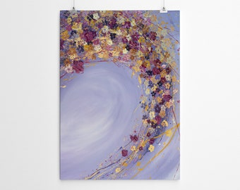 Large Wall Art Acrylic Painting Canvas Art Giclee Print Painting Print Floral Wall Art Abstract Painting Print Large Art Print