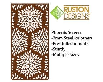 Phoenix Screen - Garden Art - Metal Art - Custom - Interior Screens - Room Divider - Outdoor Panels - Modern Art - Unique Gift