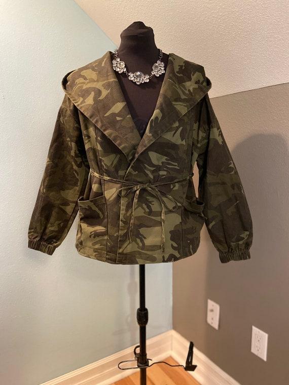 Hooded Camouflage jacket