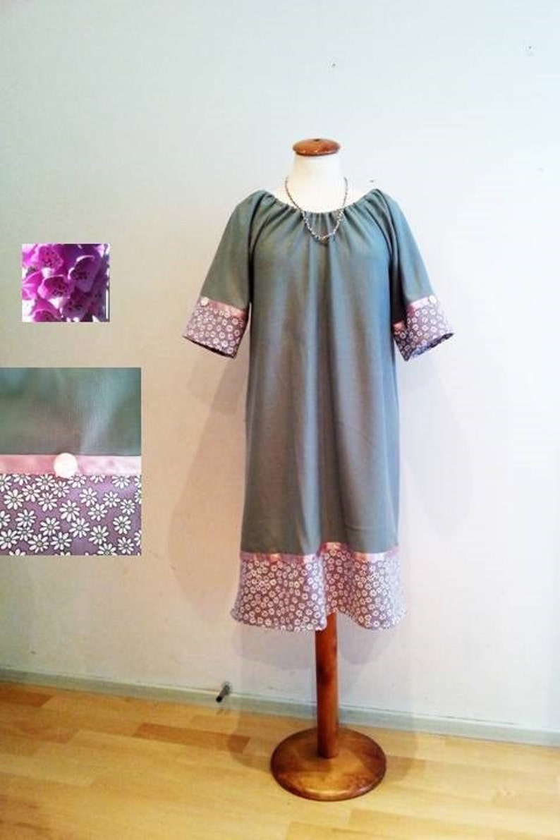 eeba832dfb1 Grüne Tunika-Kleid 60er Jahre 70er Jahre Retro-Stil Kleid