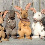 """Primitive bunny PATTERN """"The Gang's All Hare"""" HHF347"""