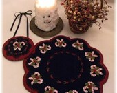 Primitive wool applique PATTERN - Christmas Candy - PLP178