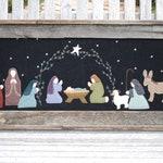 Primitive Wool Applique Nativity PATTERN - O Holy Night - UGM125