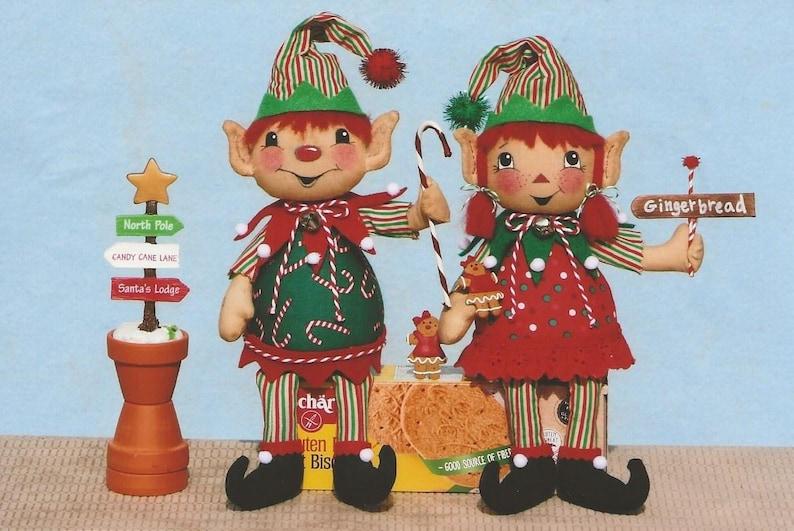 Little Elf Tea Cup Dolls and Sitting Shelf Elves Whimsical Elf PATTERN HHF481