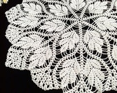 White crochet doily Crochet lace doily Lace table topper White doily 20.5 inches Handmade doilies