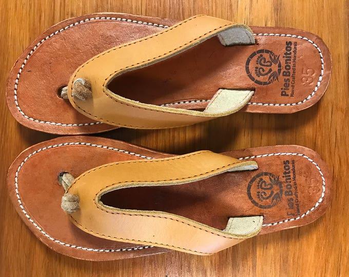 Handmade Genuine Leather Flip-Flops for Women