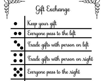 Gift exchange game | Etsy