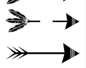 feather and arrow svg feather svg arrow svg tribal svg arrow etsy