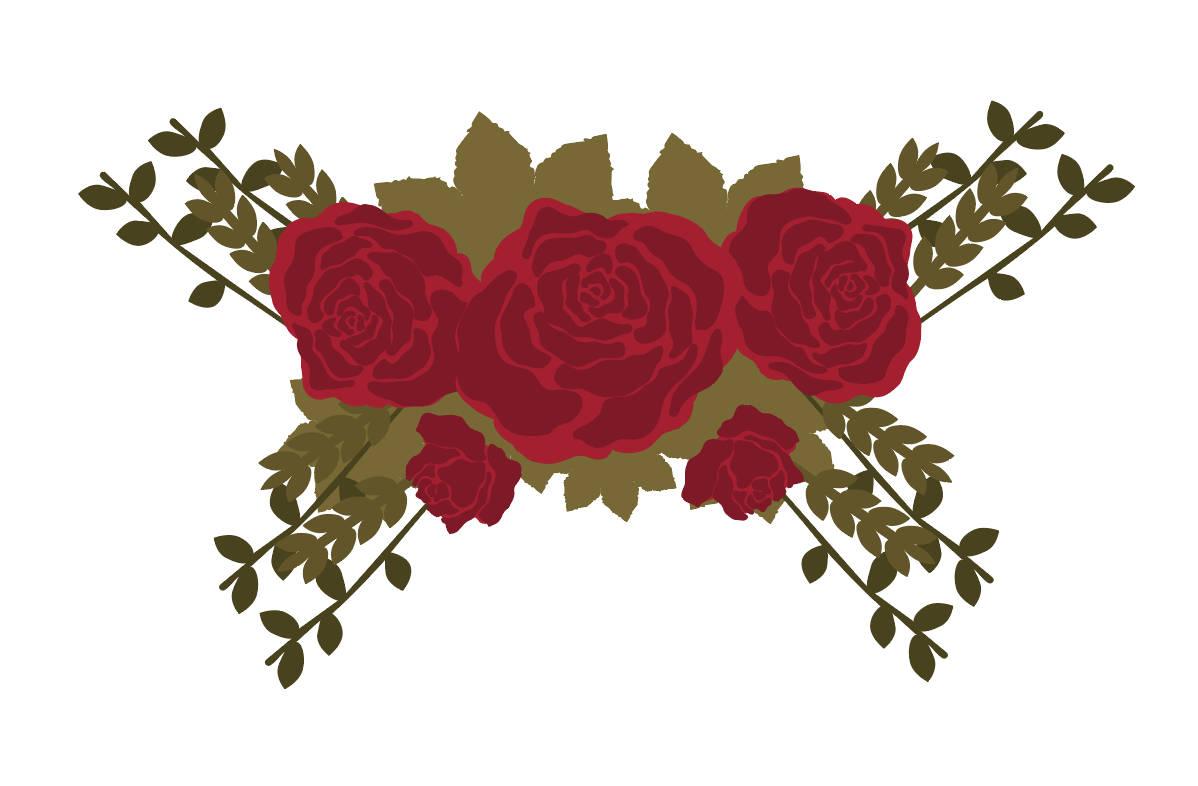 Rosen SVG Winter Blume Svg Weihnachten Blumen Svg | Etsy