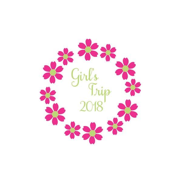 Girls trip svg flower svg roses svg floral svg spring etsy image 0 mightylinksfo