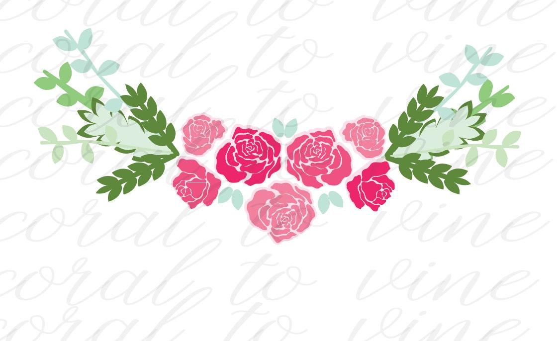 Download Flower SVG roses SVG floral svg spring floral SVG floral ...