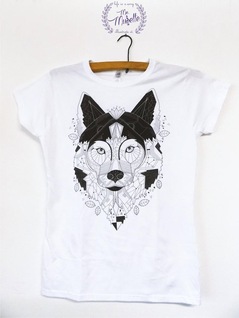 Limited edition Geometric Wolf T-shirt image 0