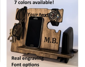 personalized gift, gift for husband, birthday gift, phone dock, gift for men,  birthday gift, gift for dad, birthday gifts, docking station,