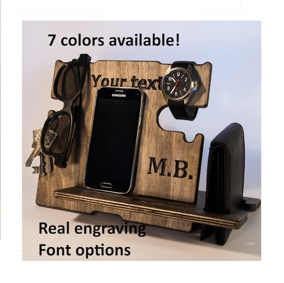 Personalized Gift For Husband Birthday Phone Dock Men Dad Gifts Docking Station