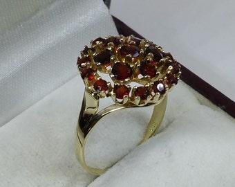 333ER ring with garnet stones 17.6 mm GR204