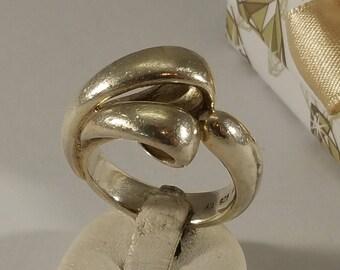 19.4 mm Ring 925 silver extravagant design SR686