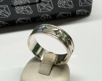 21.2 mm ring Silver 925 star vintage rar SR885