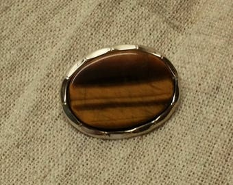 Brooch Silver 925 eye vintage stainless SB133