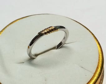 16.6 mm ring silver gold plated vintage SR945 835