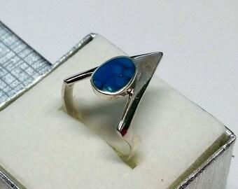 17.3 mm designer ring Silver 925 turquoise rar SR776