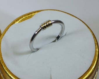 17.1 mm Ring Silver 835 Gold plated Vintage SR574