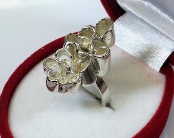 16.7 mm designer Ring silver handmade rar SR440