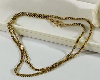 Necklace Gold 333 Armored chain 42.5 cm/2 mm GK139