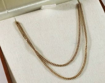 Necklace Gold 333 Panzer chain Vintage GK136