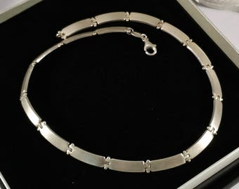 Chain link silver chain 925 80's simple design SK549