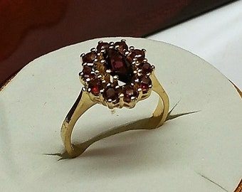 17.4 mm Ring Silver 835 Gold plated crystals SR897