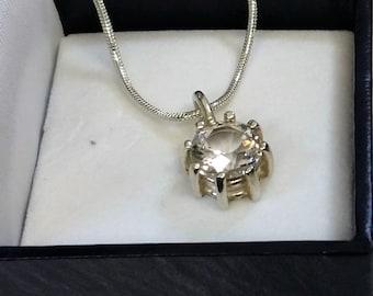 Pendant-Silver 925-crystal clear vintage SK981