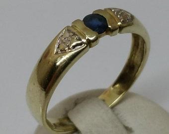 585 gold ring Sapphire design 18.3 mm GR185