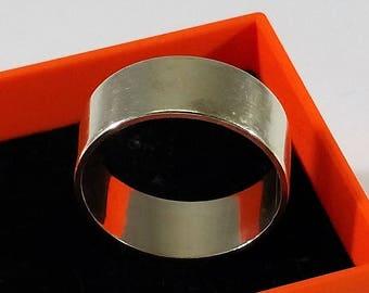 20.8 mm Plain ring Silver 800 vintage SR821