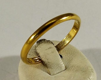20.8 mm Ring Silver 925 Gold plated plain SR490