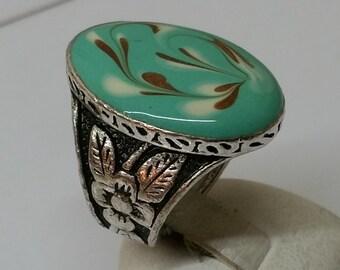 15.9 mm ring silver 835 porcelain nostalgia SR484