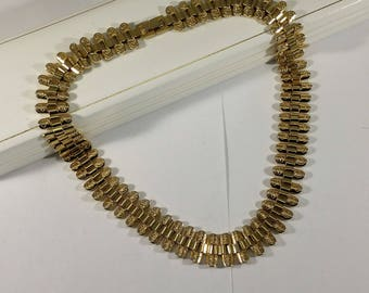 Chain collier necklace Hard Gilded Rare MK140