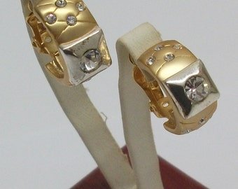 Goldohrclipse earring with Crystal stones MO100